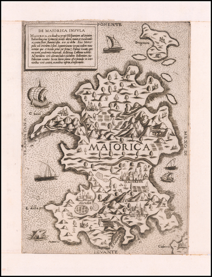 91-Spain and Balearic Islands Map By Anonymous / Lafreri School