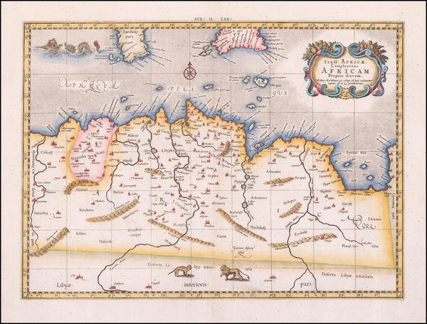 North Africa Map By  Gerard Mercator