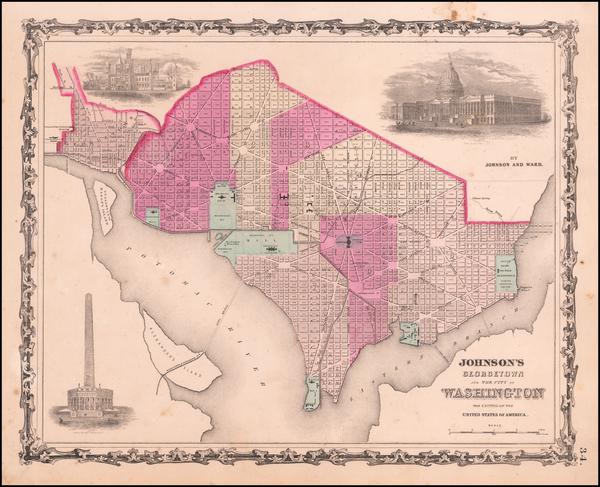 63-Mid-Atlantic Map By Benjamin P Ward  &  Alvin Jewett Johnson