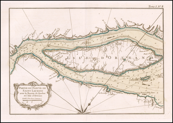 6-Canada Map By Jacques Nicolas Bellin
