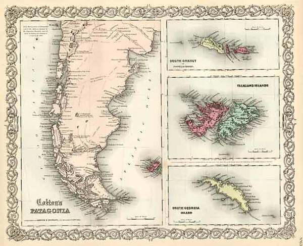 87-South America, Australia & Oceania and Other Pacific Islands Map By Joseph Hutchins Colton