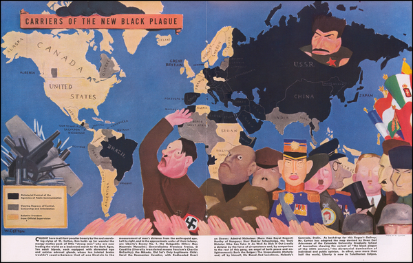 99-World, Pictorial Maps and World War II Map By William Henry Cotton