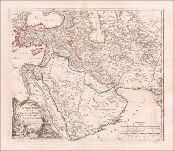 28-Middle East, Holy Land and Turkey & Asia Minor Map By Didier Robert de Vaugondy