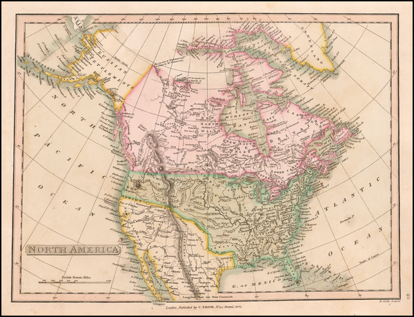 25-North America Map By Charles Smith