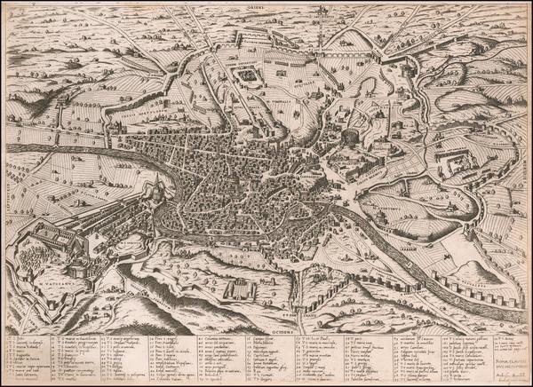 65-Rome Map By Claudio Duchetti / Ambrosio Brambilla