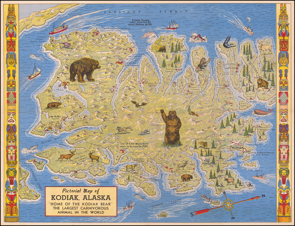 Alaska and Pictorial Maps Map By Lowell E. Jones