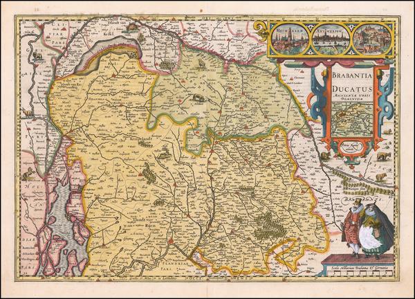 88-Netherlands Map By Petrus Kaerius