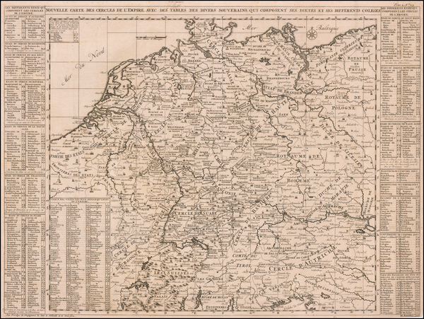 64-Netherlands, Germany and Austria Map By Henri Chatelain
