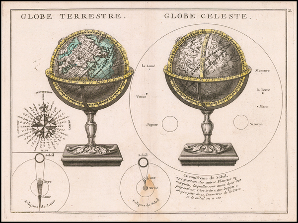 32-World and Celestial Maps Map By George Louis Le Rouge