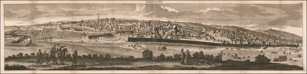 94-Jerusalem Map By Cornelis De Bruyn