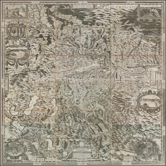 38-Austria Map By Melchior Kusell / George Matthäus Vischer