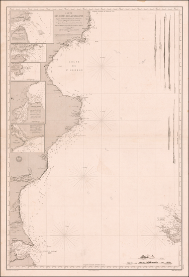 29-Argentina and Chile Map By Depot de la Marine