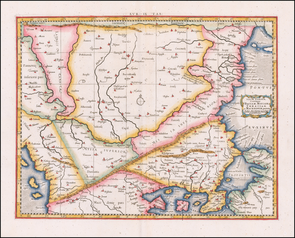 72-Romania, Balkans and Turkey Map By  Gerard Mercator