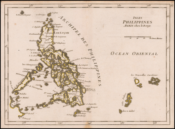 67-Philippines Map By Georges Louis Le Rouge
