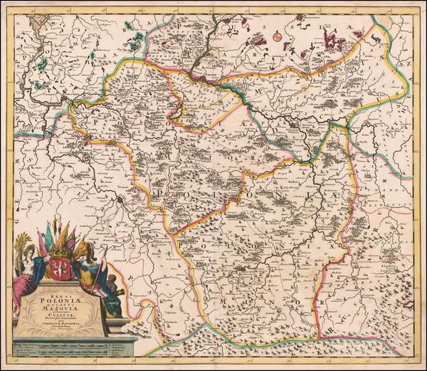 27-Poland Map By Cornelis II Danckerts