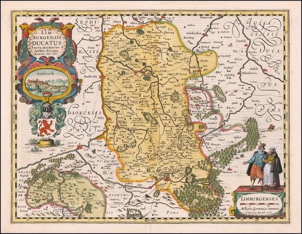 91-Belgium Map By Petrus Kaerius