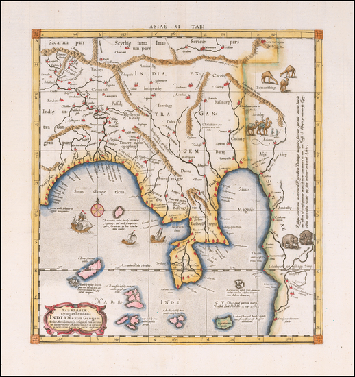 60-India Map By  Gerard Mercator