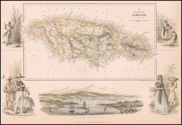 63-Jamaica Map By Archibald Fullarton