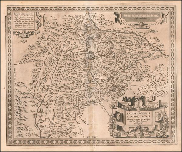 34-Austria Map By Abraham Ortelius