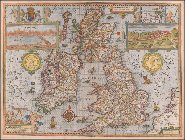 90-British Isles Map By John Speed