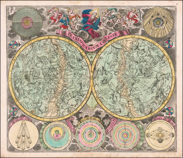 38-Celestial Maps Map By Melchior Rein