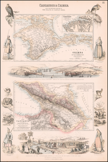 0-Russia, Ukraine and Central Asia & Caucasus Map By Archibald Fullarton & Co.