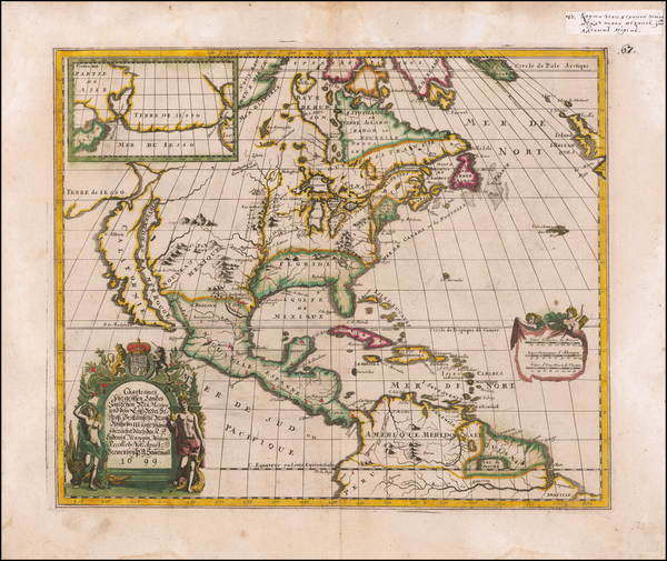 94-Midwest, North America and California as an Island Map By Louis de Hennepin / Philip Gottfried