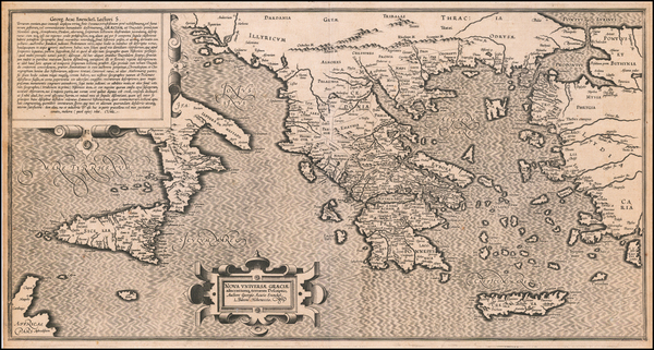 55-Greece, Turkey, Mediterranean, Sicily and Turkey & Asia Minor Map By George Achatz von Enen
