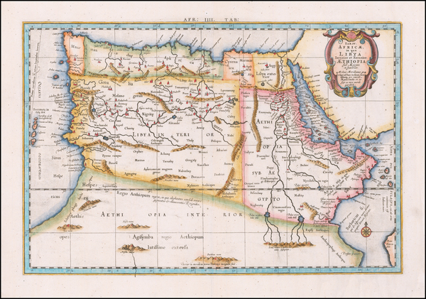 95-Egypt and North Africa Map By  Gerard Mercator