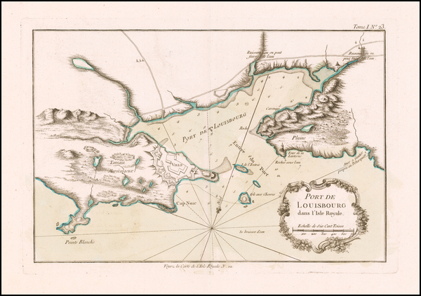 47-Canada Map By Jacques Nicolas Bellin