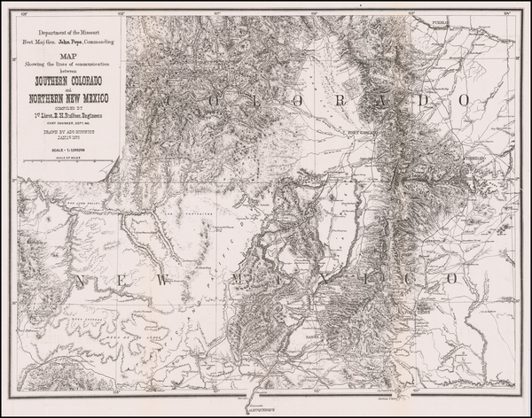 29-Southwest, Colorado, New Mexico, Rocky Mountains and Colorado Map By U.S. Government