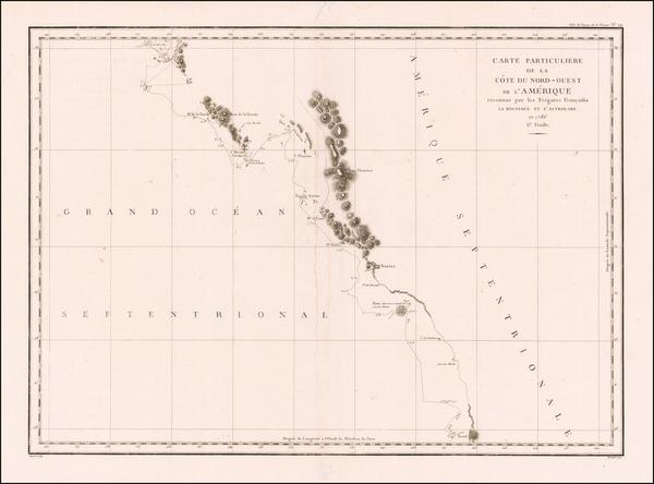 Canada Map By Jean Francois Galaup de La Perouse