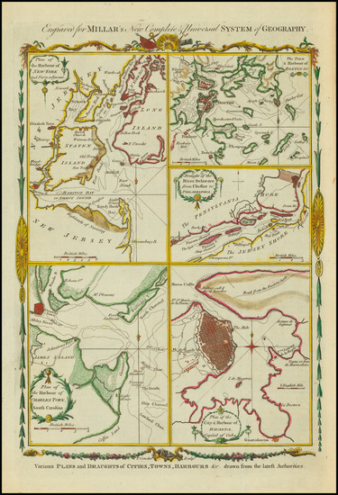 38-New England, Southeast and North America Map By Thomas Conder