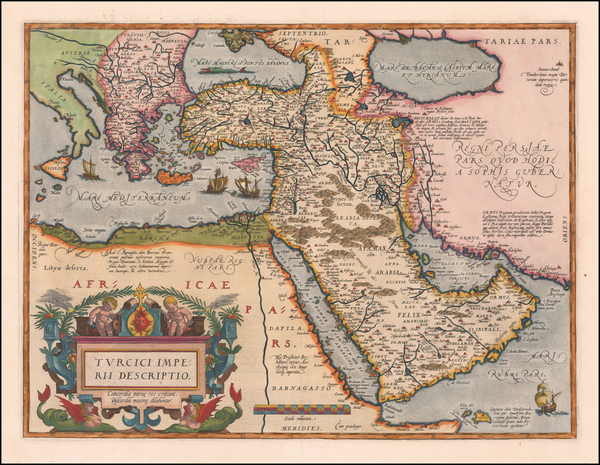 65-Turkey, Mediterranean, Middle East, Arabian Peninsula and Turkey & Asia Minor Map By Abraha
