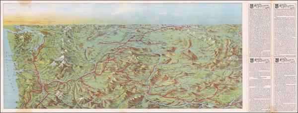 87-Idaho, Oregon and Washington Map By Knight Leonard & Co.