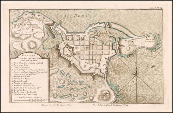 2-Canada Map By Jacques Nicolas Bellin