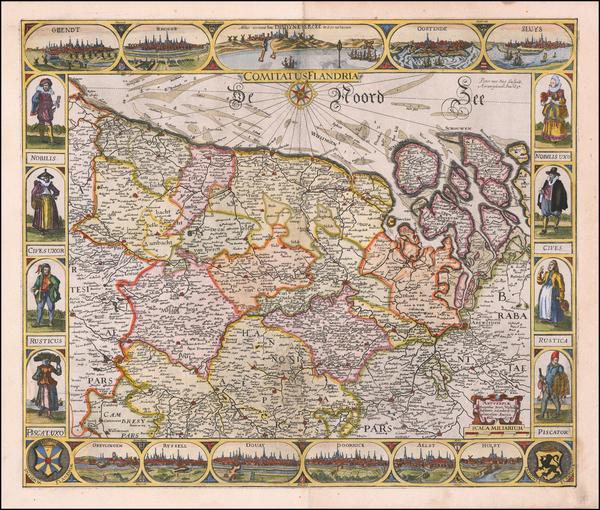 48-Belgium Map By Peter Verbiest