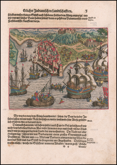 83-Brazil and Portugal Map By Theodor De Bry