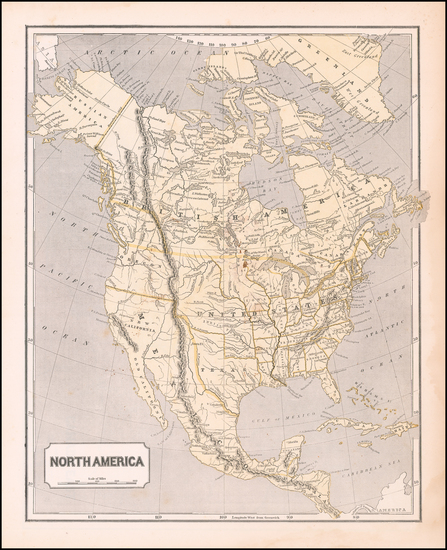 38-Texas and North America Map By Sidney Morse  &  Samuel Breese