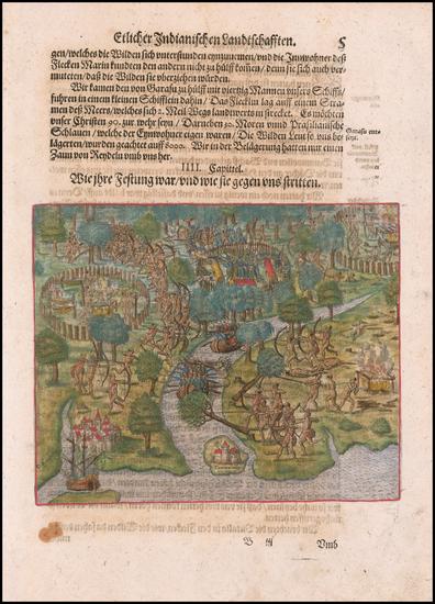 36-Brazil Map By Theodor De Bry