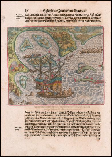 52-Brazil Map By Theodor De Bry