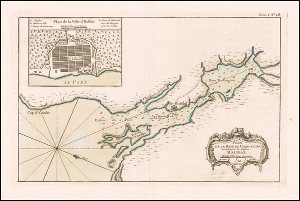 0-Canada Map By Jacques Nicolas Bellin