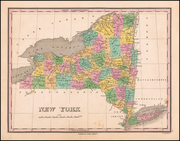 New York State Map By Anthony Finley