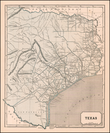 86-Texas Map By Sidney Morse  &  Samuel Breese