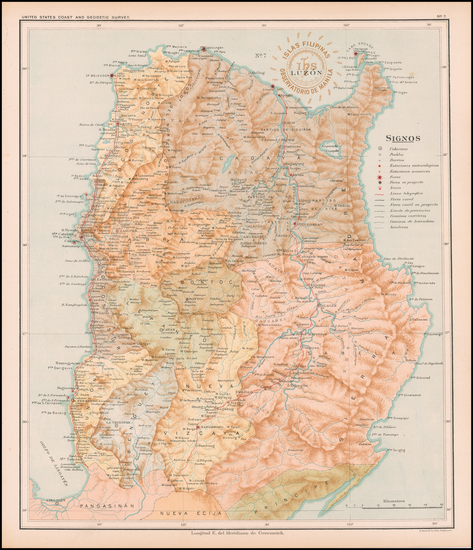 93-Philippines Map By Hoen & Co.