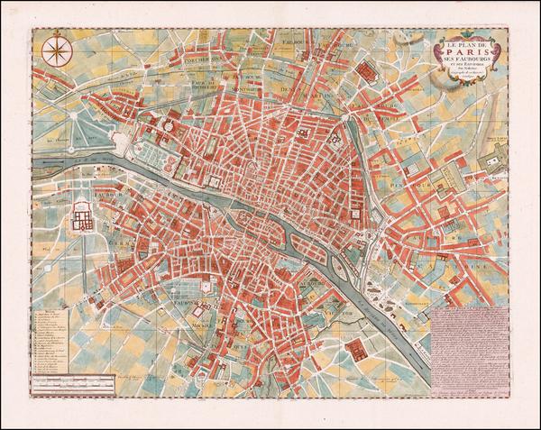 11-Paris Map By Nicolas de Fer