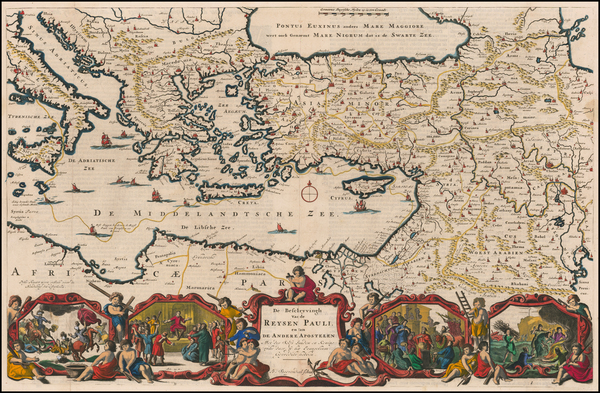 Greece, Turkey, Mediterranean, Central Asia & Caucasus, Holy Land and Turkey & Asia Minor Map By Daniel Stoopendahl