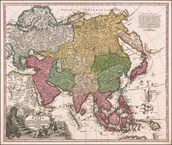42-Asia Map By Johann Christoph Homann