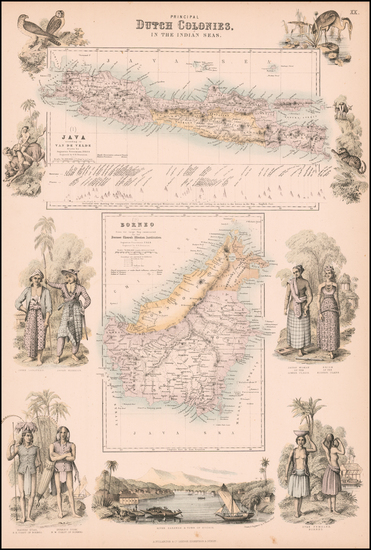 Indonesia and Malaysia Map By Archibald Fullarton & Co.