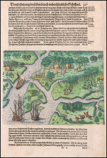 95-Southeast and South Carolina Map By Theodor De Bry
